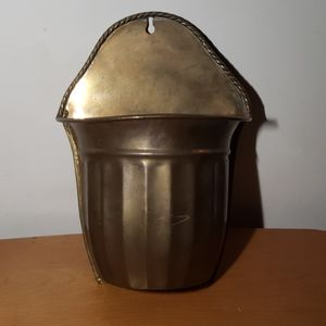 Brass Wall Hanging planter/ Vase